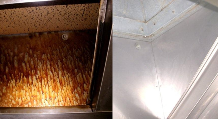 before and after duct cleaning london