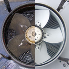 extractor fan cleaning before after